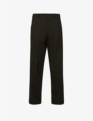 COMME DES GARCONS SHIRT: Relaxed-fit high-rise twill trousers