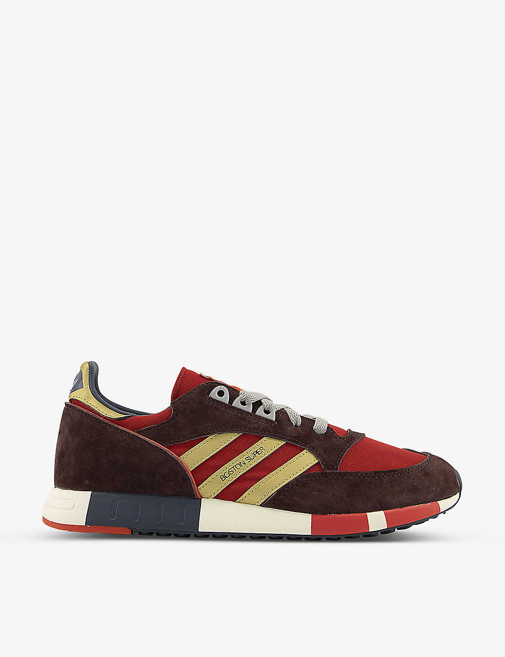 ADIDAS: Boston Super nylon and suede trainers