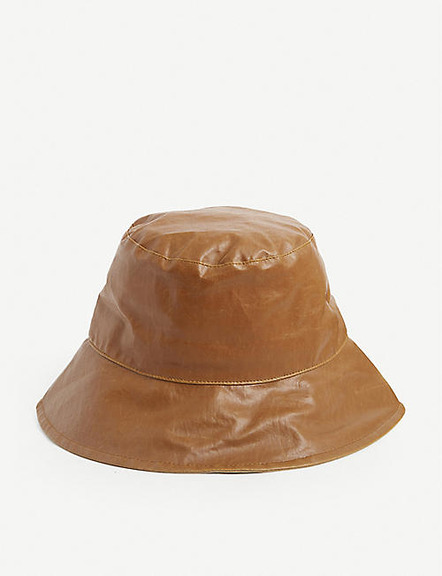 ISABEL MARANT: Loiena waxed linen bucket hat
