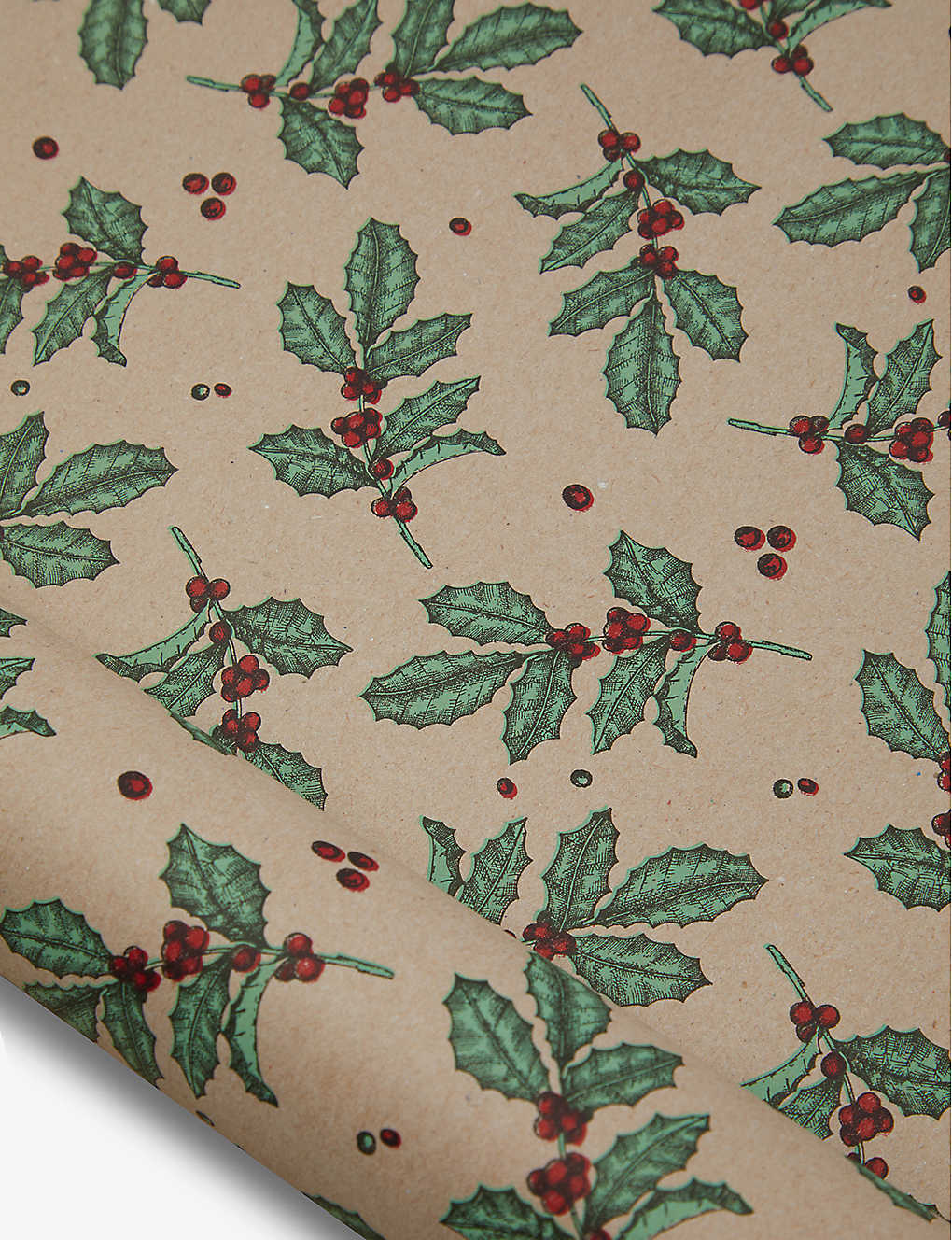 THE UNIQUE PAPER COMPANY: Wild Winter Holly wrapping paper 2m