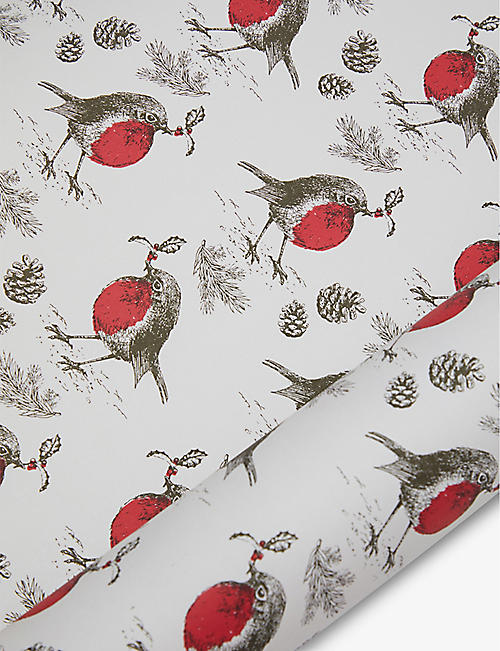 THE UNIQUE PAPER COMPANY: Wild Winter Robin wrapping paper 2m