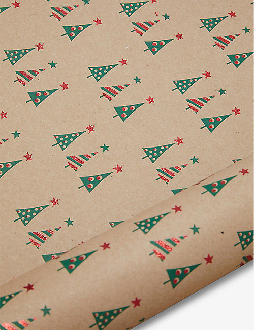 THE UNIQUE PAPER COMPANY: Christmas Tree wrapping paper 2m