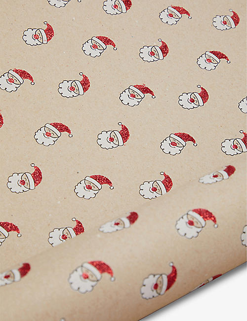 THE UNIQUE PAPER COMPANY: Santa wrapping paper 2m