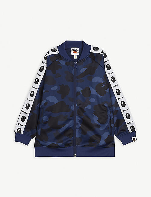 A BATHING APE: Camouflage-print zip-through jacket 5-9 years