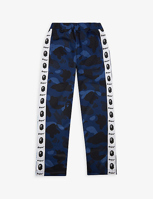A BATHING APE: Camo Tape stretch-jersey jogging bottoms 5-9 years