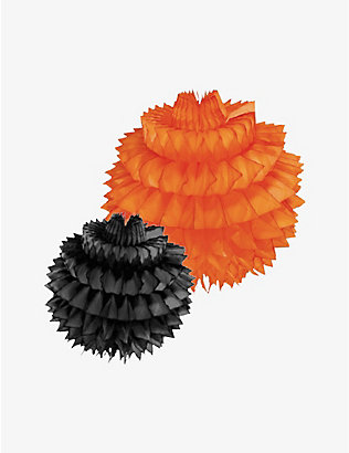 HALLOWEEN: Spiky fan decorations pack of two