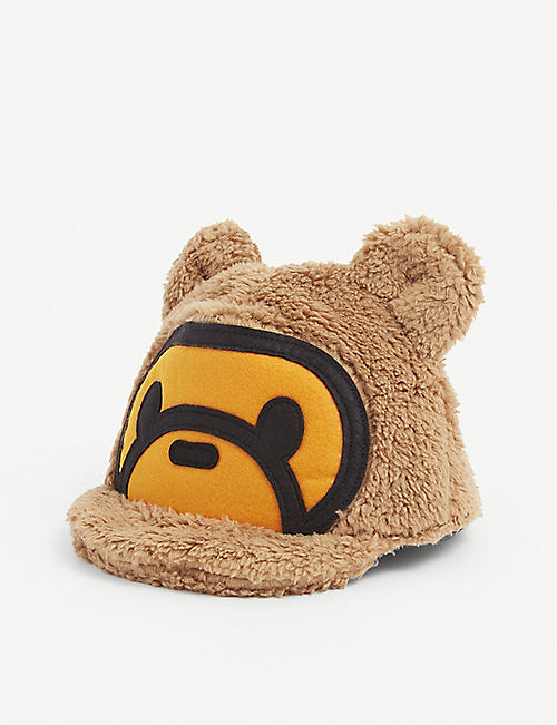 A BATHING APE: Logo-intarsia fleece baseball cap