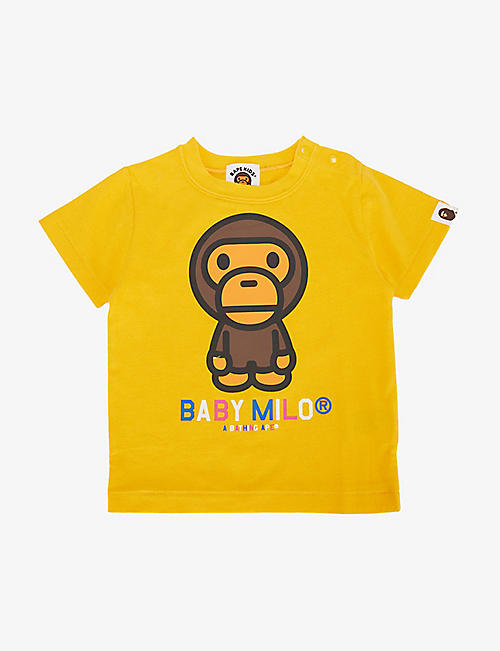 A BATHING APE: Baby Milo cotton T-shirt 6-18 months