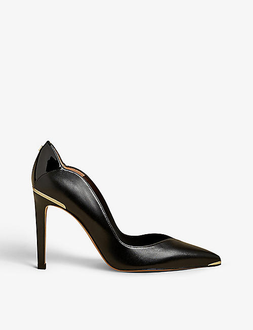 TED BAKER: Dayslip scalloped leather courts