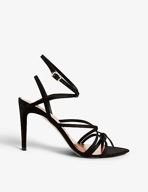 TED BAKER: Relana crossover-strap faux-suede heeled sandals