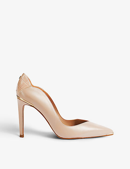 TED BAKER: Daysii pointed-toe leather courts