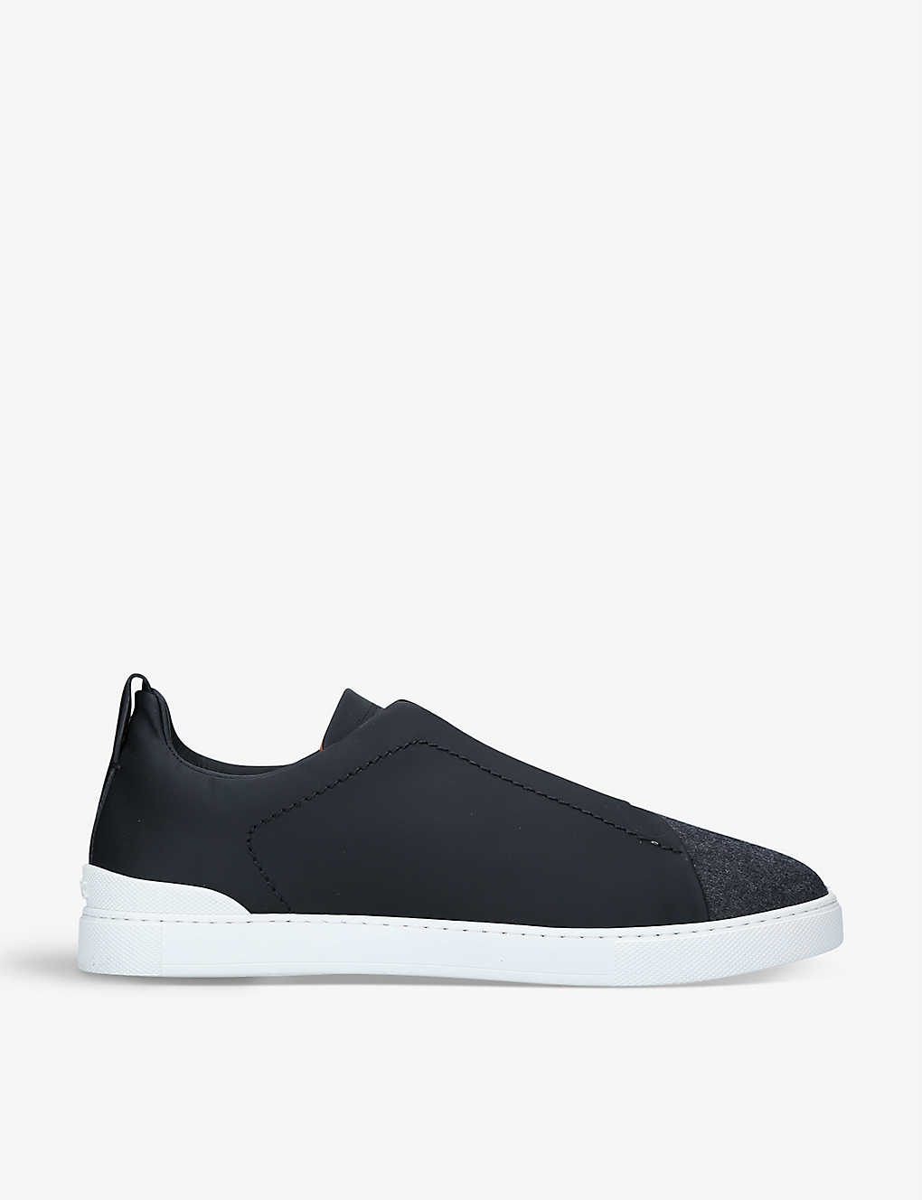 ERMENEGILDO ZEGNA: Triple Stitch leather low-top trainers