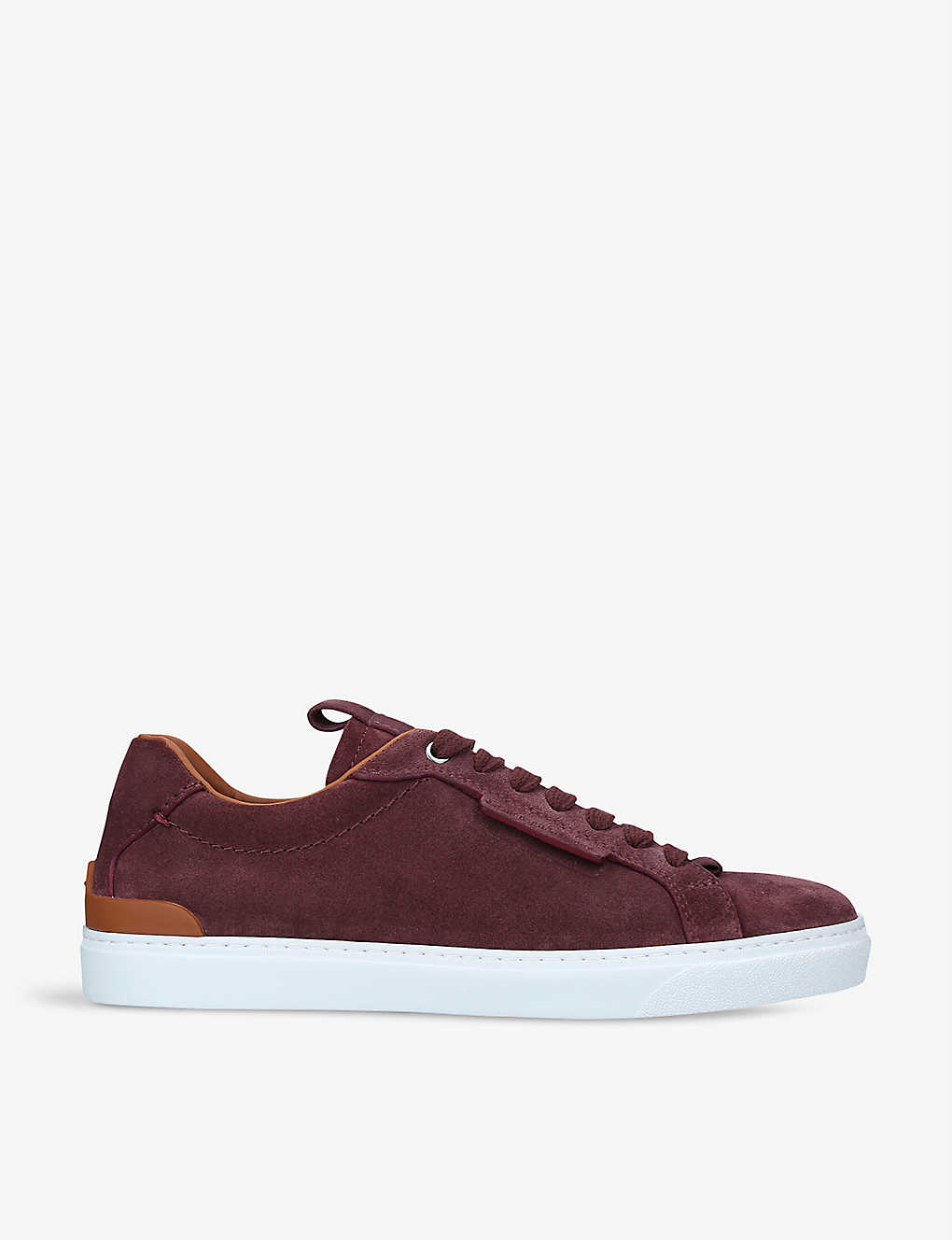 ERMENEGILDO ZEGNA: Ferrara suede low-top trainers