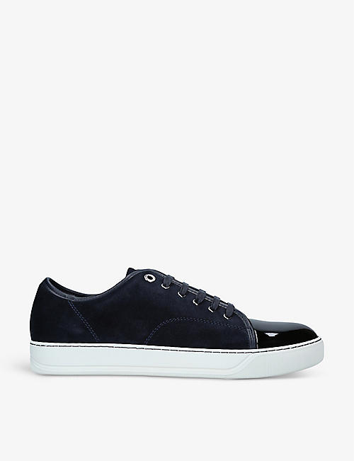 LANVIN: DBB1 suede and patent-leather low-top trainers