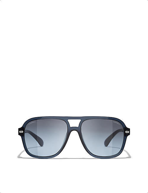 CHANEL: CH5436Q 56 pilot-frame acetate sunglasses