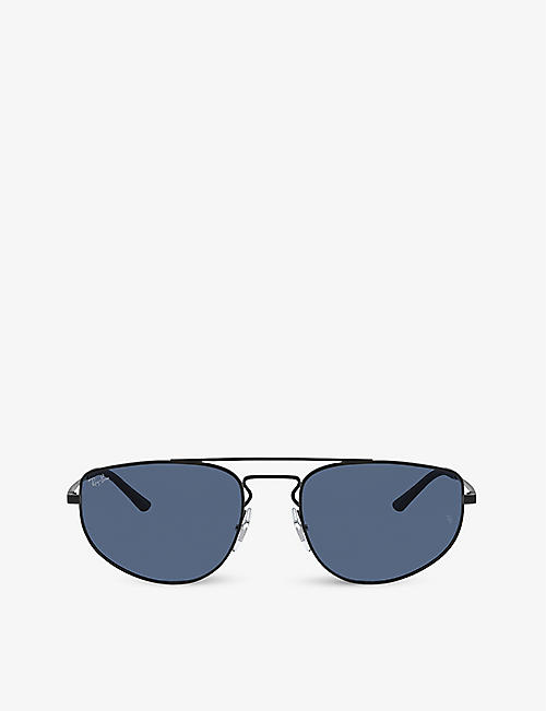 RAY-BAN: RB3668 55 metal aviator sunglasses