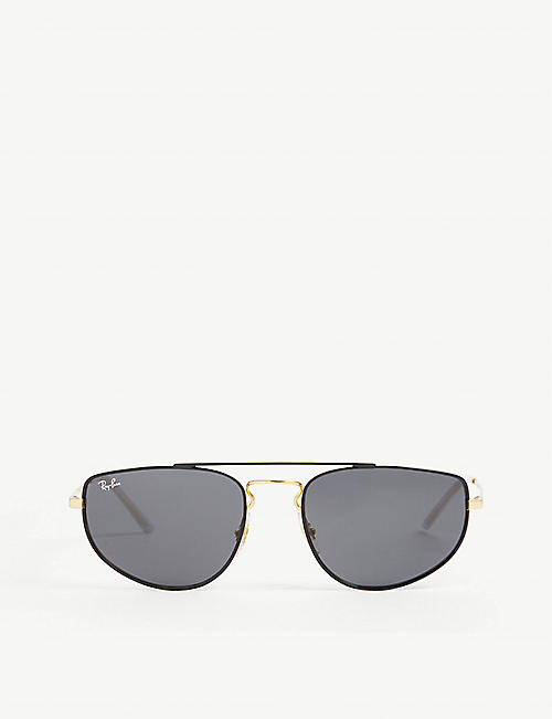 RAY-BAN: RB3668 rectangular-frame sunglasses