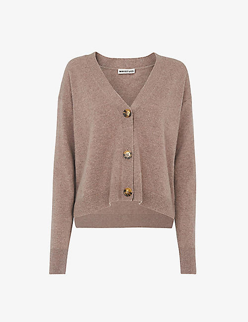 WHISTLES: V-neck cashmere cardigan
