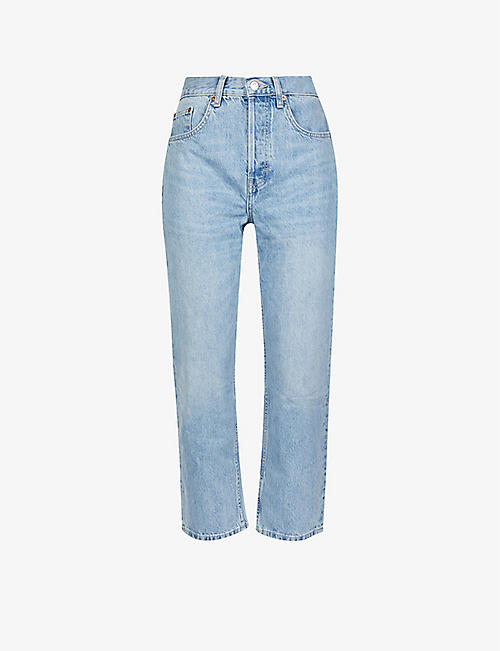 TOPSHOP: Editor high-rise faded jeans