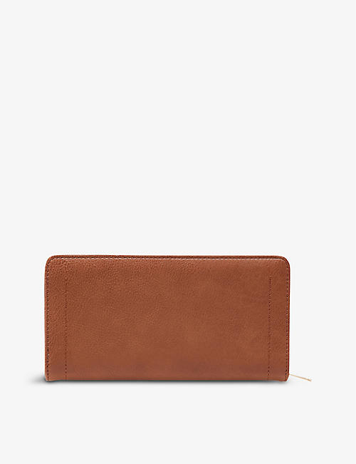 DUNE: Korrie zipped faux-leather purse