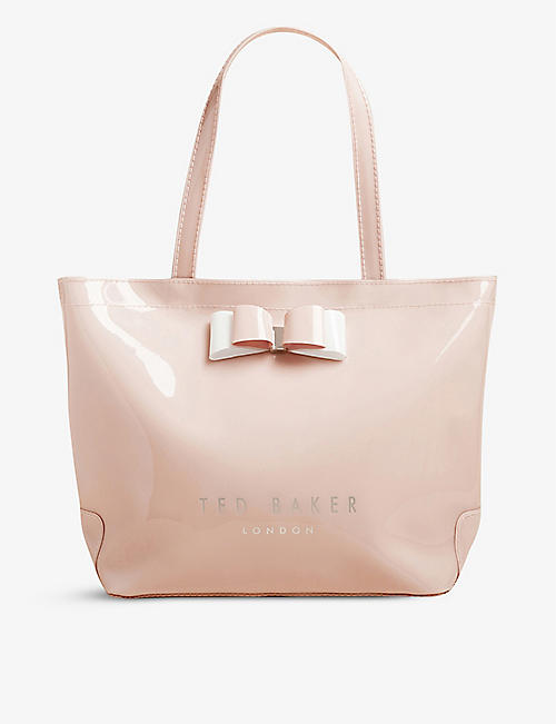 TED BAKER: Haricon bow-trimmed small icon bag