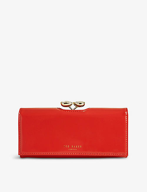 TED BAKER: Emmeyy patent-front leather wallet