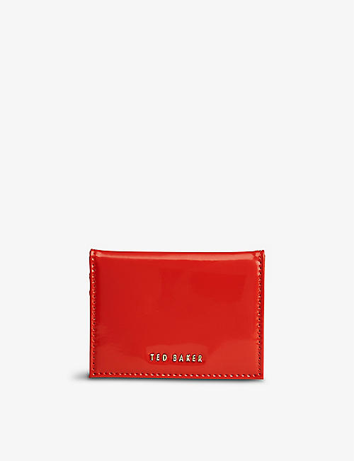 TED BAKER: Eellsa patent-front leather cardholder