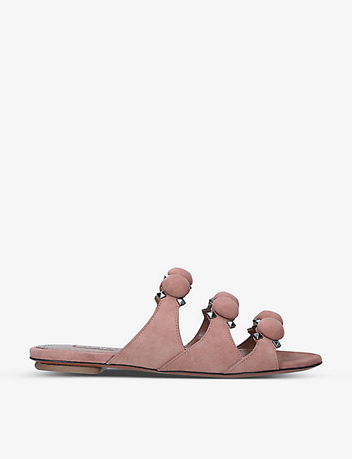 AZZEDINE ALAIA: Bombe spike-embellished suede sandals