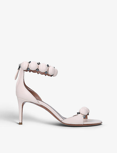 AZZEDINE ALAIA: Bombe 75 spike-embellished leather sandals