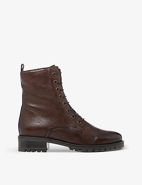 DUNE: Prestone lace-up leather boots
