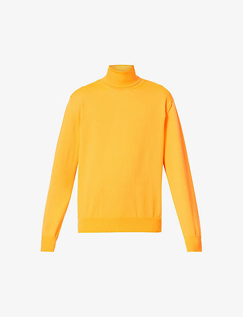 FACETASM: Turtleneck fitted stretch-jersey top