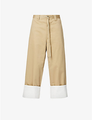 FACETASM: Kung Fu straight woven trousers