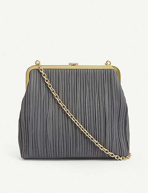 MARK CROSS: Susanna pleated leather shoulder bag