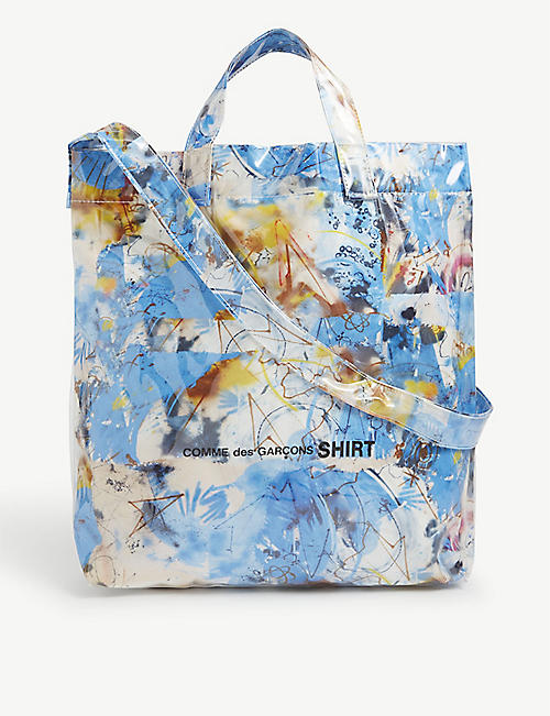 COMME DES GARCONS SHIRT: Futura graphic-print vinyl small tote