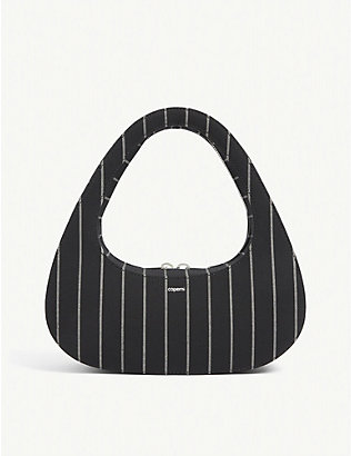 COPERNI: Swipe pinstriped wool baguette bag
