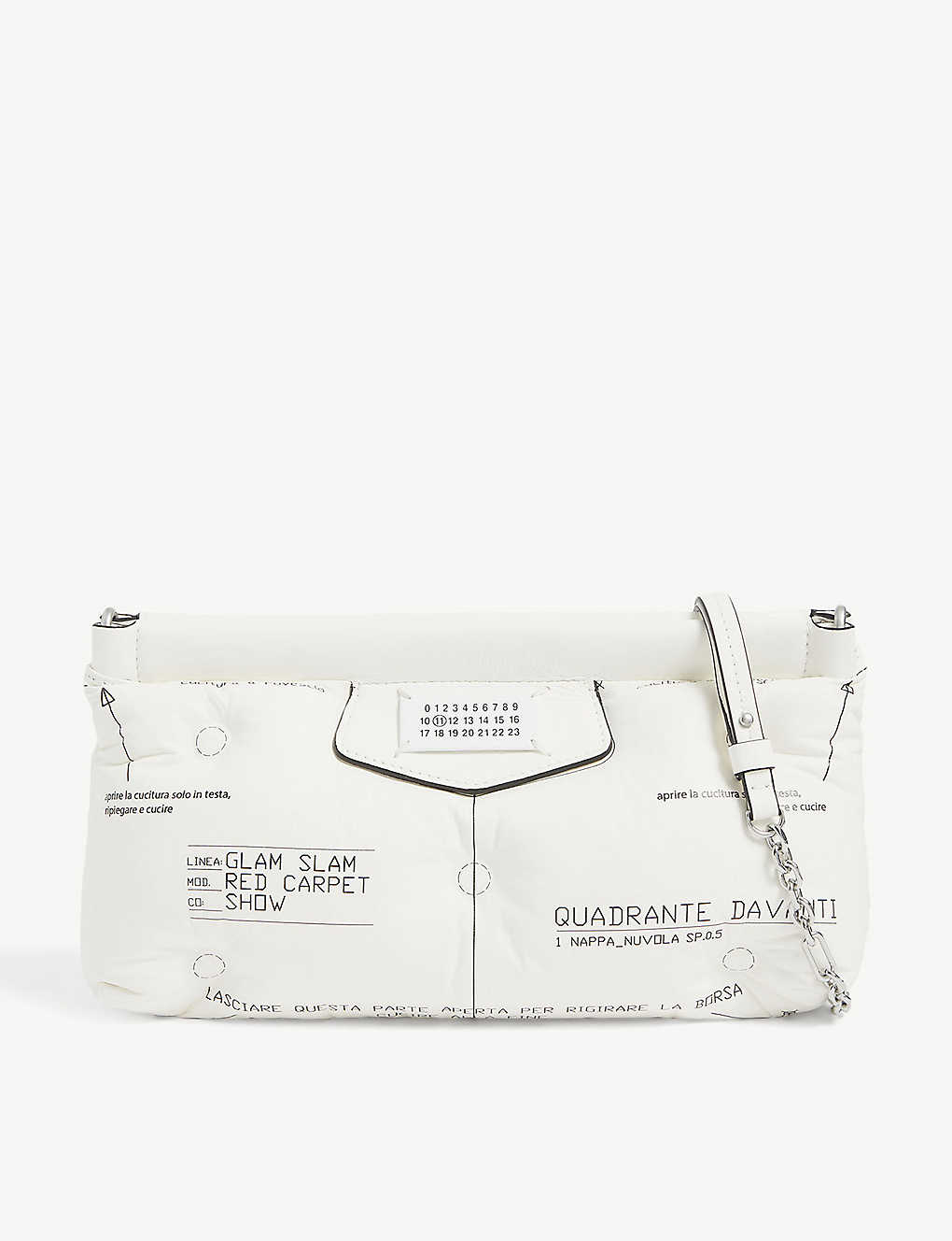 Maison Margiela GLAM SLAM RED CARPET LEATHER SHOULDER BAG