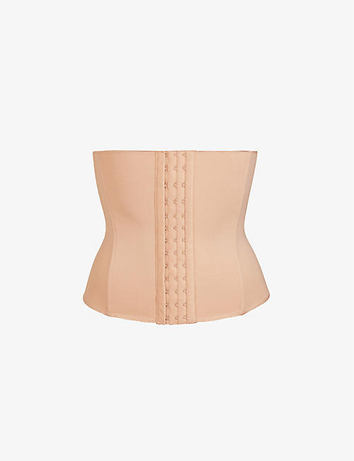 SKIMS: Boned stretch-woven waist trainer