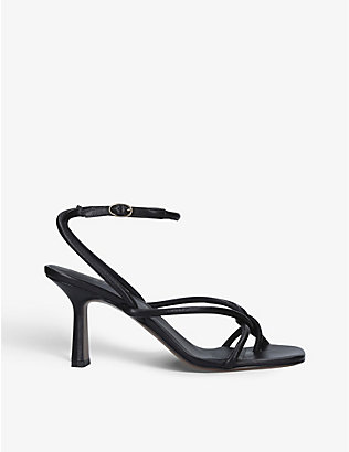 NEOUS: Alkes leather heeled sandals