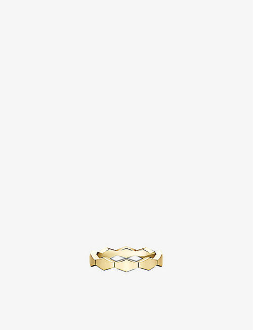 VASHI: Connections 18ct yellow-gold medium stacking ring