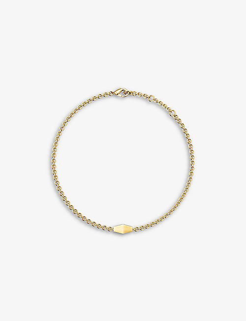 VASHI: Connections 18k yellow-gold charm bracelet