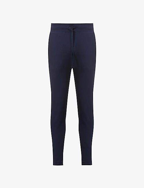 POLO RALPH LAUREN: Logo-embossed cotton-blend jogging bottoms