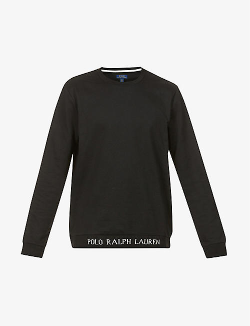 POLO RALPH LAUREN: Crewneck cotton-blend sweatshirt
