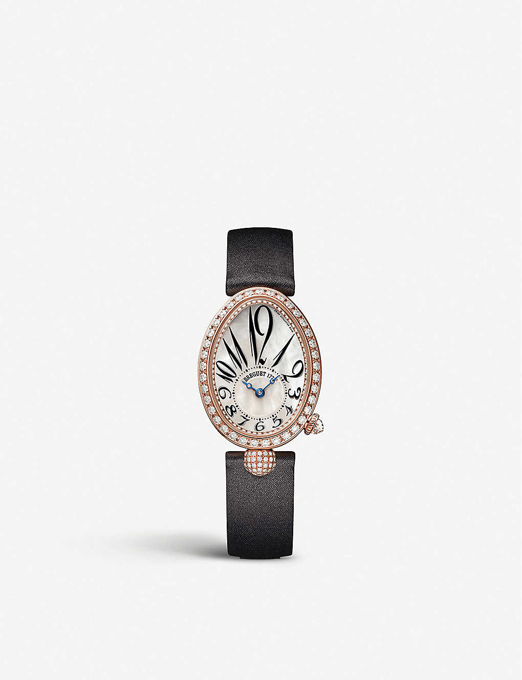 BREGUET: 8928BR/5W/944/DD0D Queen of Naples 18ct rose-gold, diamond and mother-of-pearl watch