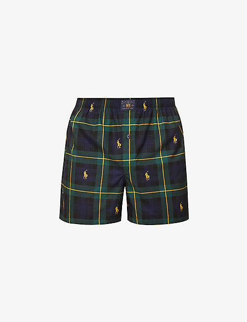 POLO RALPH LAUREN: Checked relaxed-fit cotton boxers