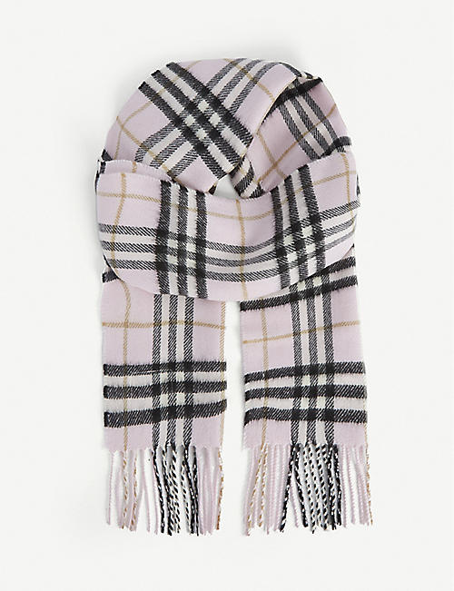 BURBERRY: Kids Vintage check cashmere scarf