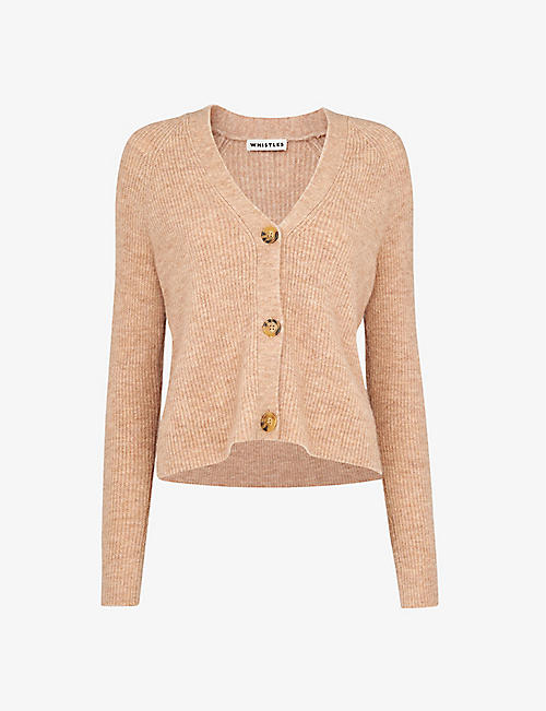 WHISTLES: Ribbed wool-blend cardigan