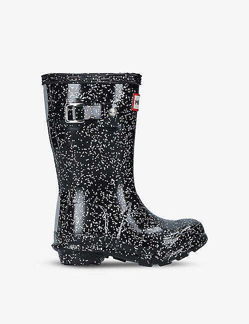 HUNTER: Original glitter-embellished wellington boots 7-10 years