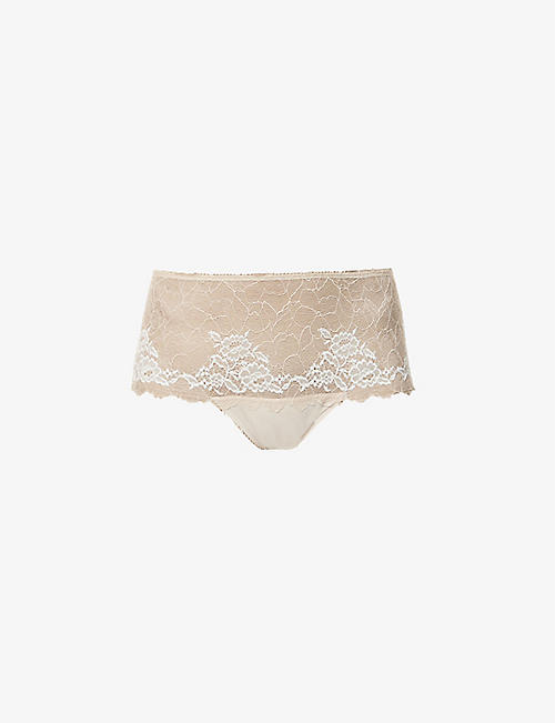 WACOAL: Lace Perfection mid-rise stretch-lace briefs