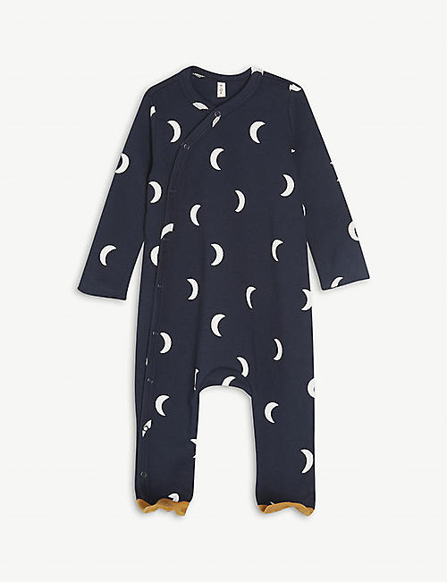 ORGANIC ZOO: Midnight organic-cotton baby grow 0-12 months