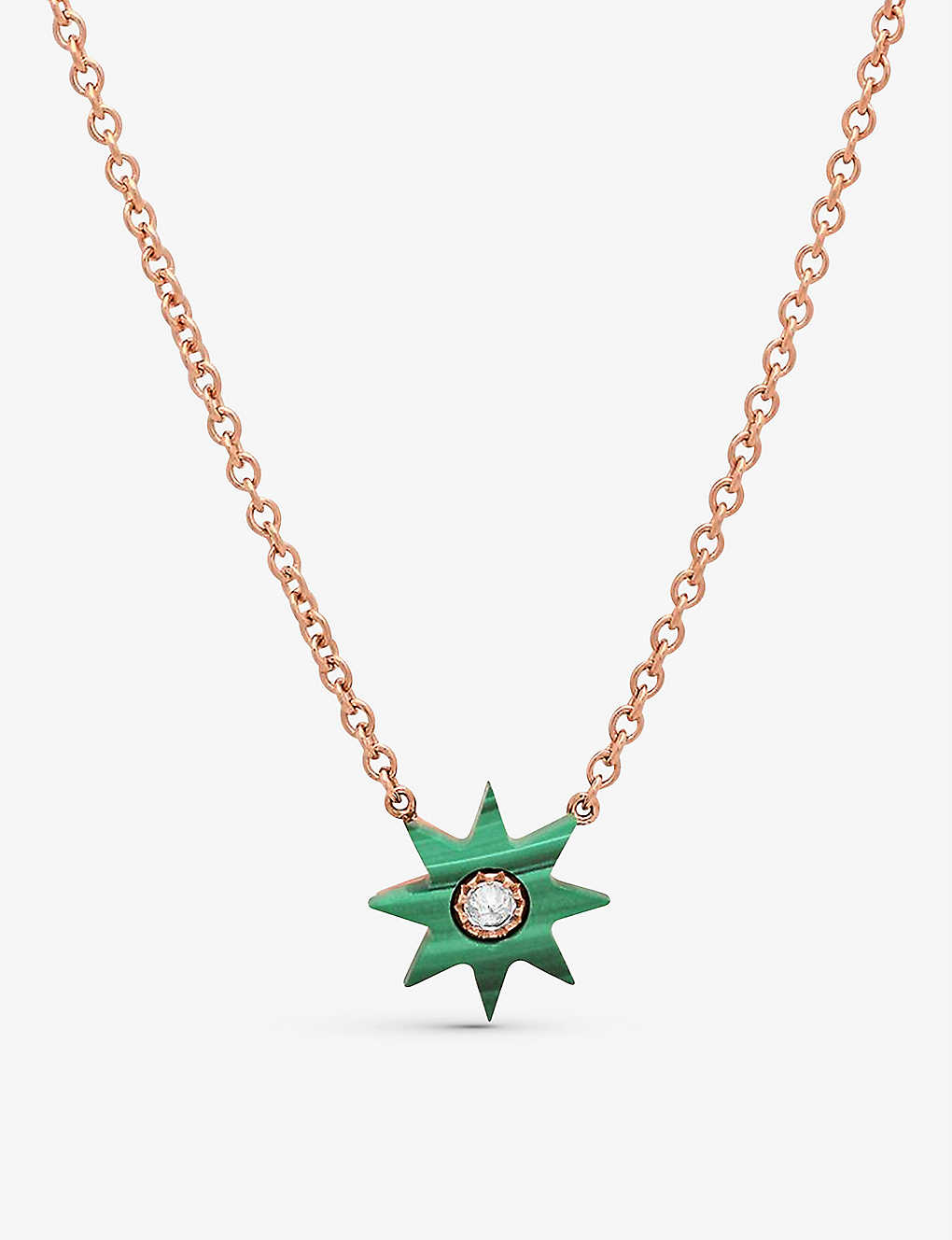 THE ALKEMISTRY: Colette Galaxia 18ct rose-gold, malachite and diamond necklace